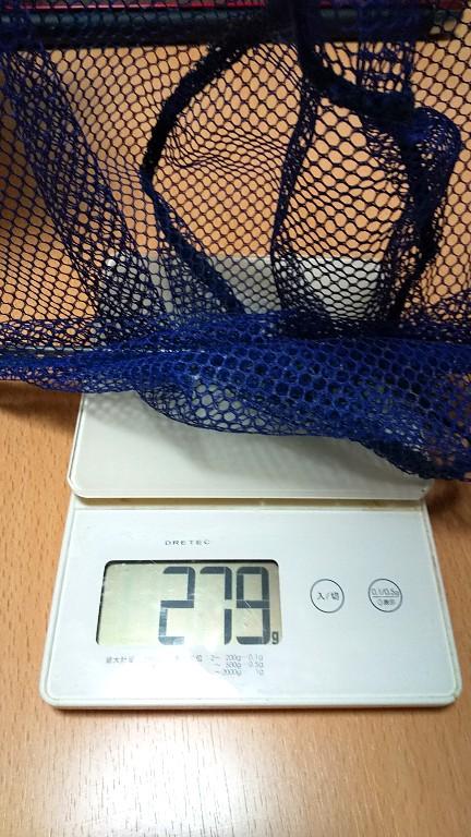 ナイロンたも網重さ