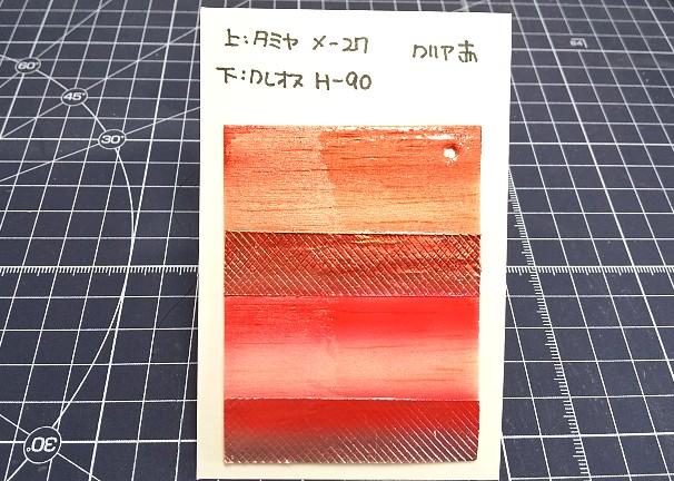 水性アクリル塗料クリア赤